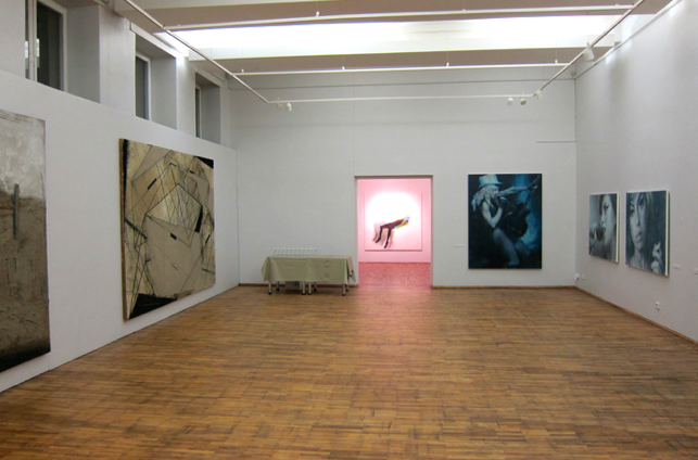 Exhib view with Ivanovs works